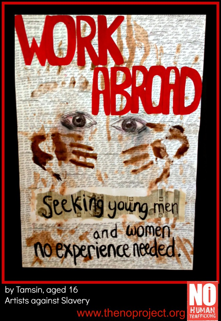 work abroad poster